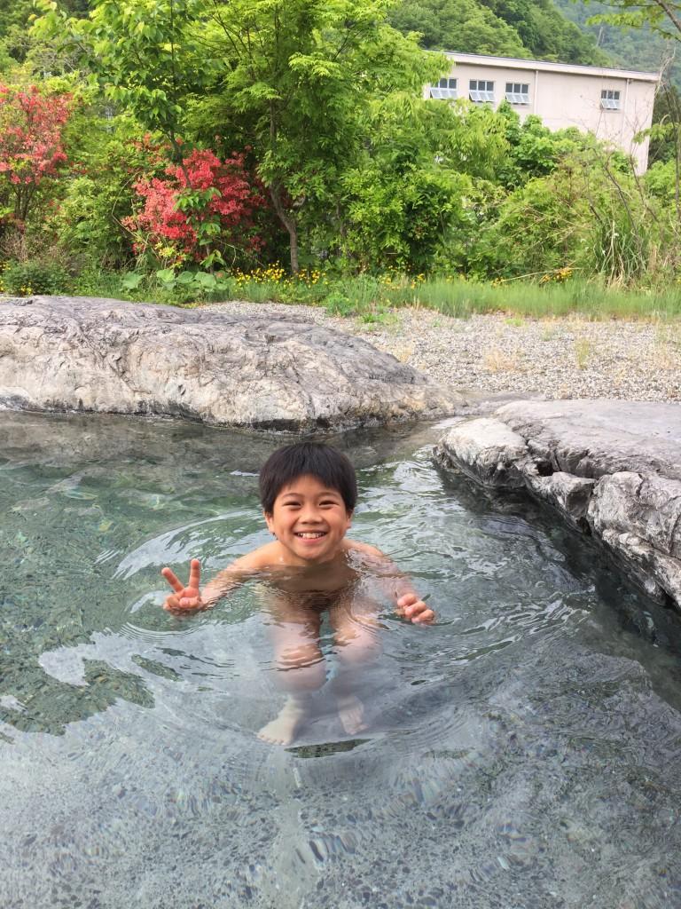 冷えた身体を温泉で温めてから。